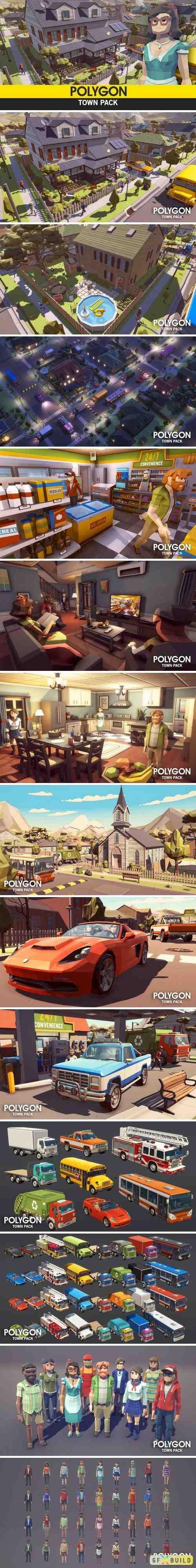 Polygon town unity