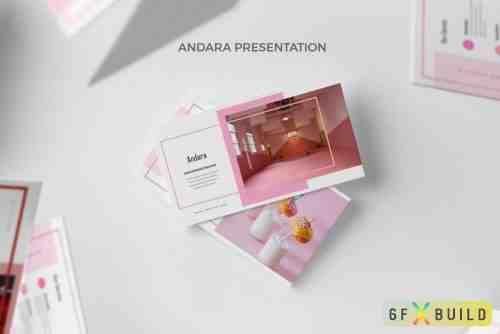 Andara : Pink Color Tone Lookbook Google Slides