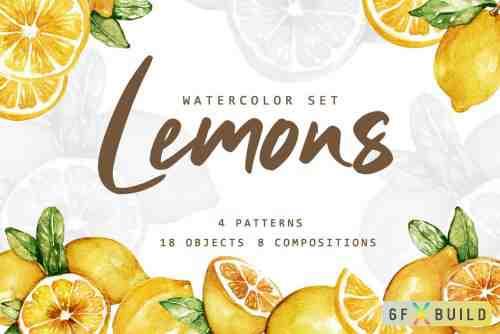 Lemonade Watercolor Set