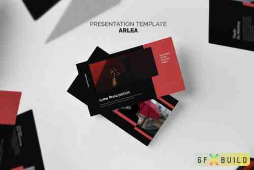 Arlea : Red Color Tone Pitch Deck Google Slides
