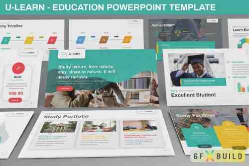 U-Learn - Education Keynote Template, Powerpoint Template, Google Slide Template
