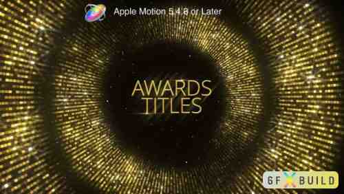 Videohive Awards Titles - Apple Motion 24535675