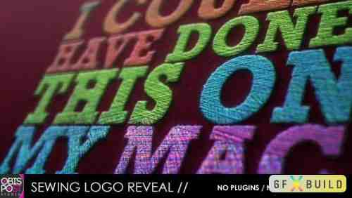 Videohive Sewing Logo Reveal 5565359