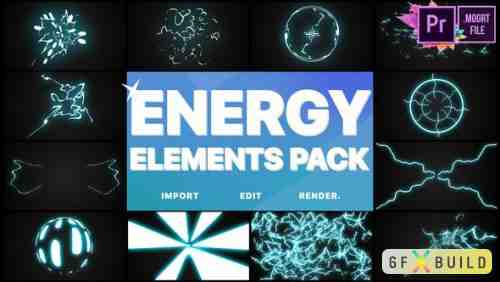 Videohive Energy Elements Pack | Premiere Pro MOGRT 24523314