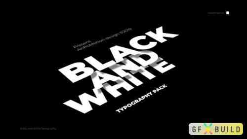Videohive Black And White - Titles And Typography 23821550