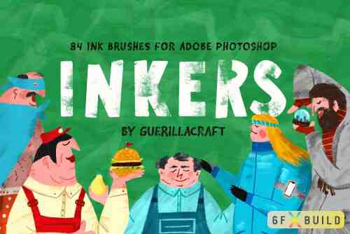 Inkers Brushes for Adobe Photoshop