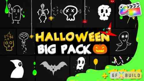 Videohive Halloween Party Elements And Titles | FCPX 24944105