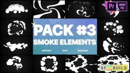 Videohive Smoke Elements Pack 03 | Premiere Pro MoGRT 24982316