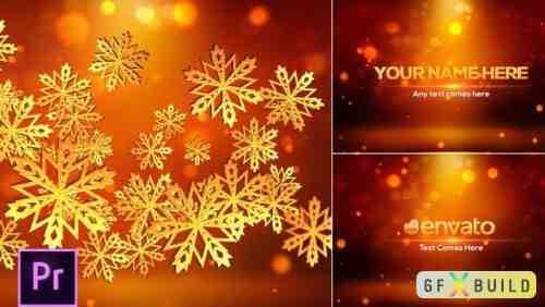 Videohive Snowflakes Logo - Premiere Pro 24977129