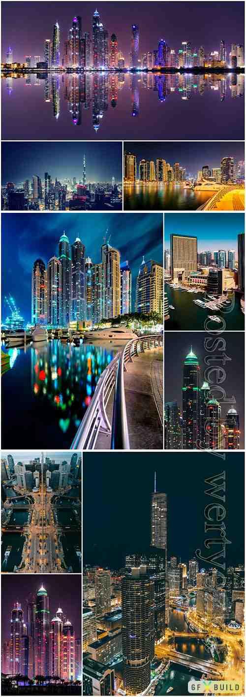 Beauty night city beautiful stock photo