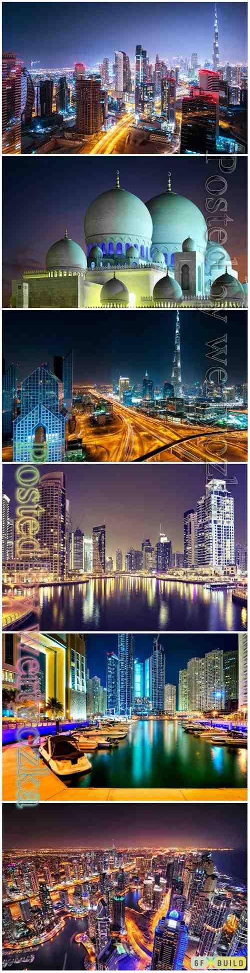 Beautiful night cityscape beautiful stock photo