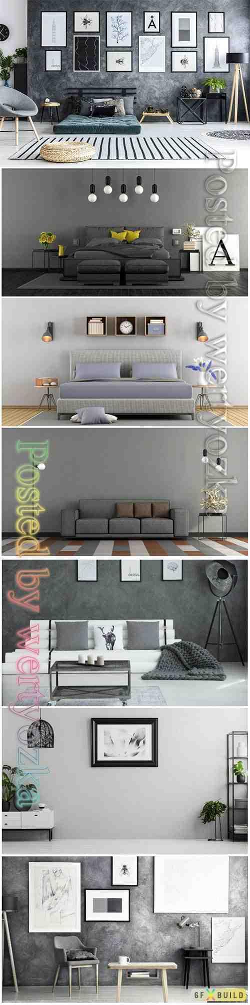 Modern interior beautiful stock photo