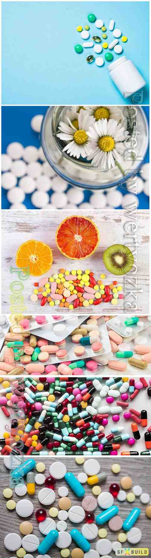 Medical pills beautiful stock photo