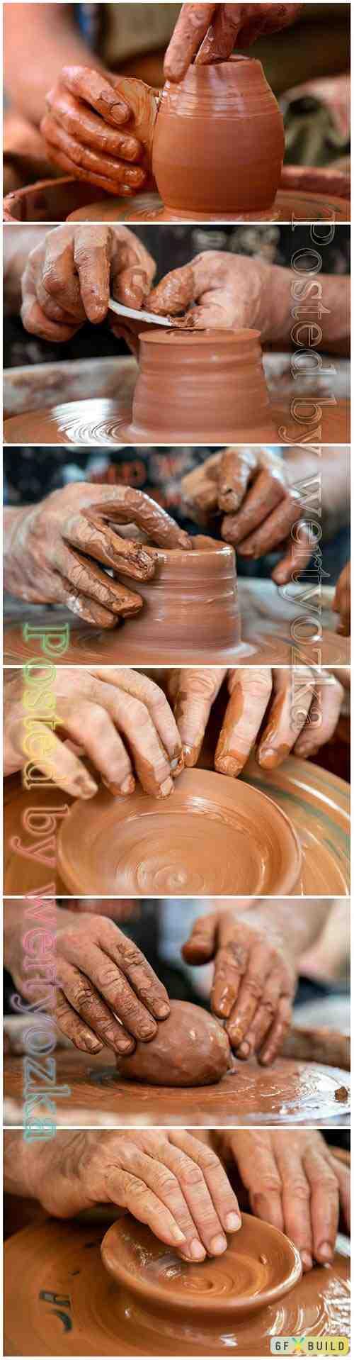 Beautiful pottery art stock photo