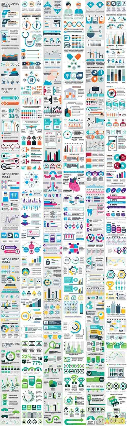 Infographic elements data visualization vector # 3