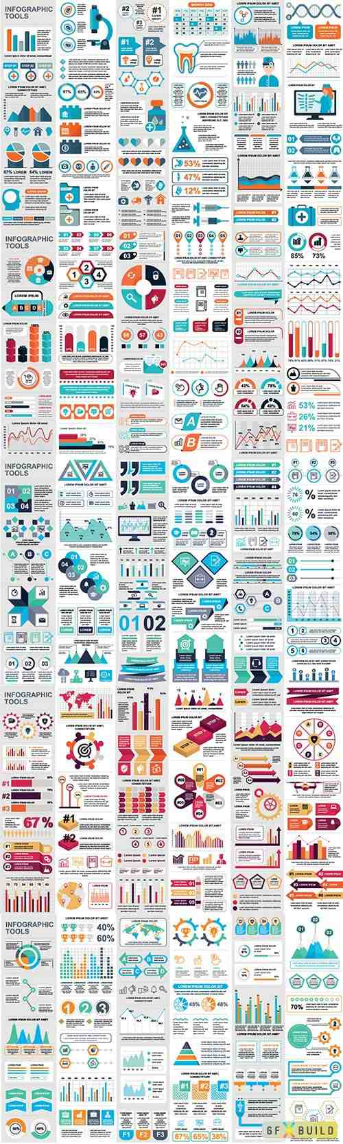 Infographic elements data visualization vector # 4