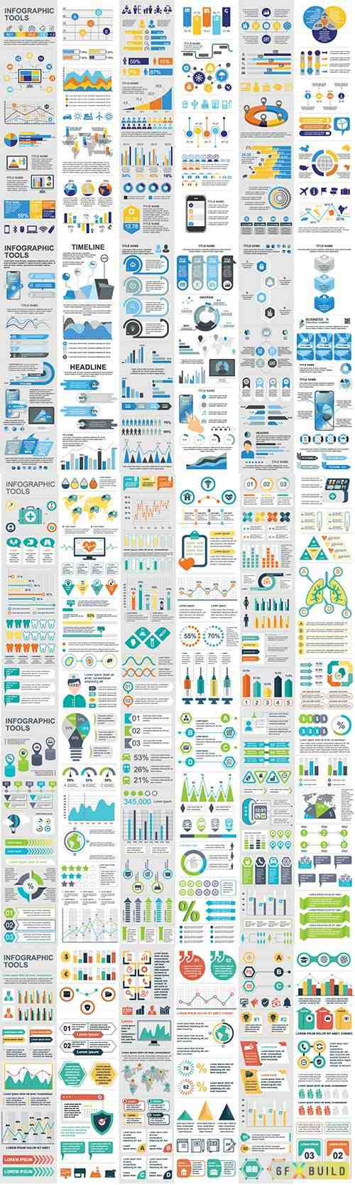 Infographic elements data visualization vector # 2