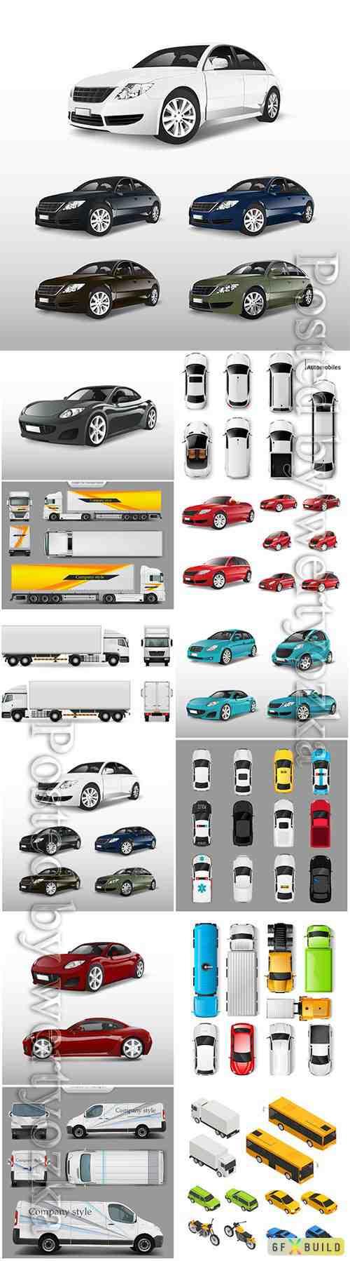 Cars various models vector