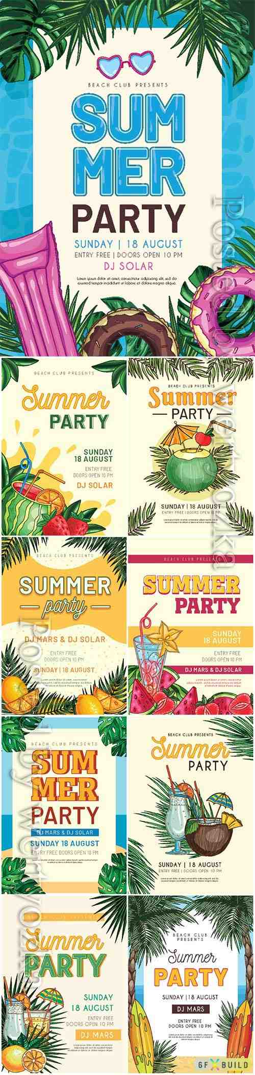 Summer vector posters