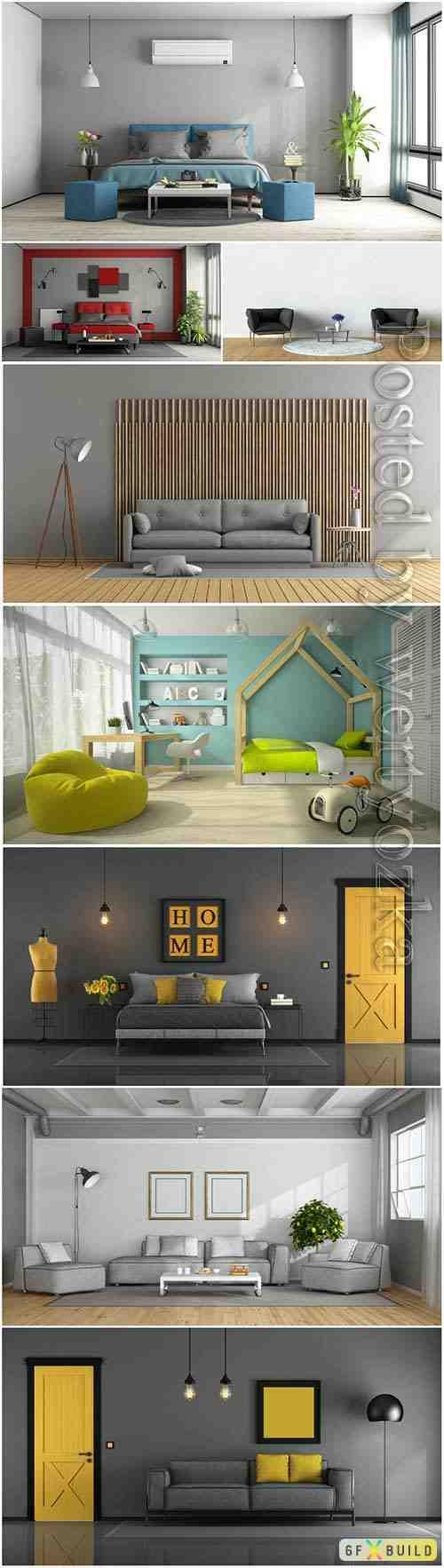 Interior set stock photo
