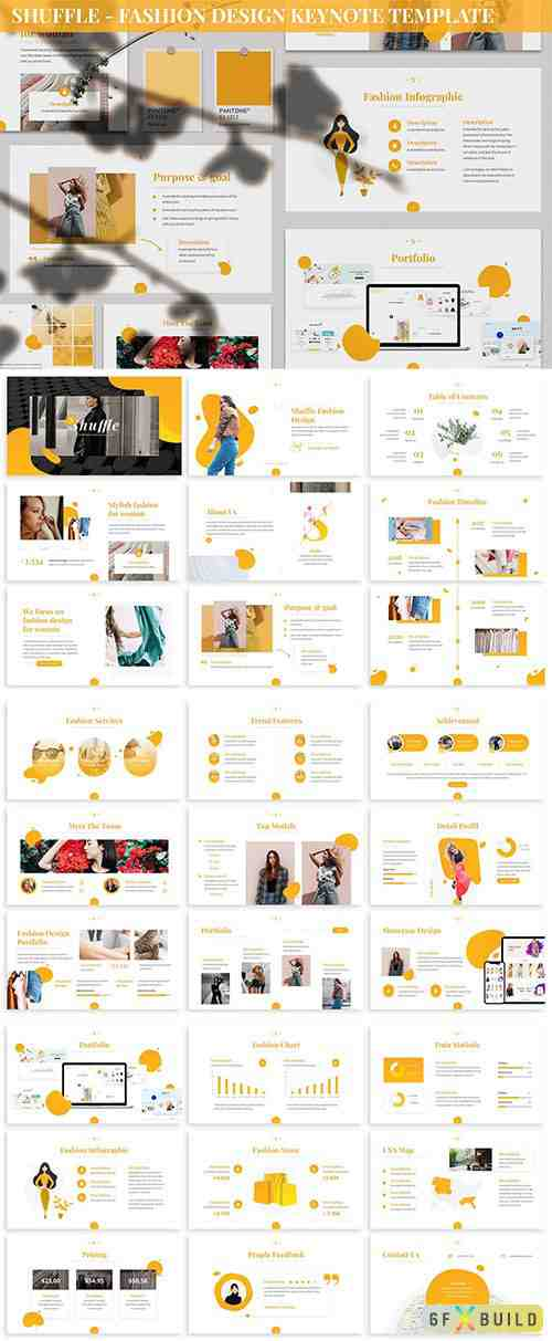 Shuffle - Fashion Design Keynote Template