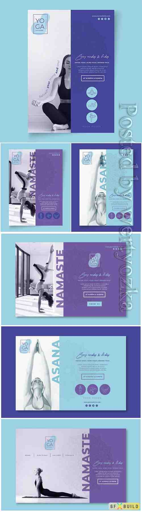 Flyer yoga classes template