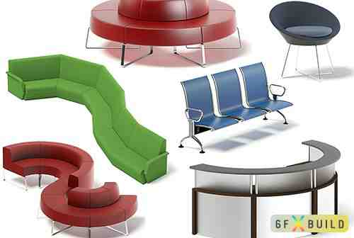 Reception Furniture 3D Models Collection 1