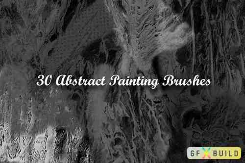 30 Abstract Painting Brushes