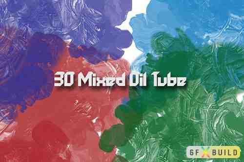 30 Mixed Oil Tube Brushes