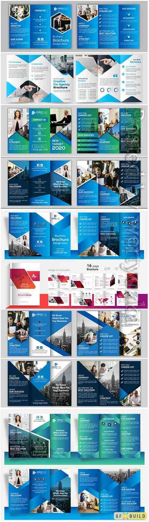 Vector set business brochure design template