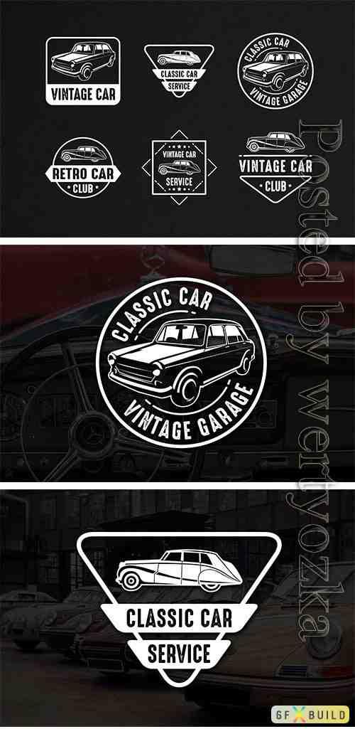 6 Car Badges Logo Template