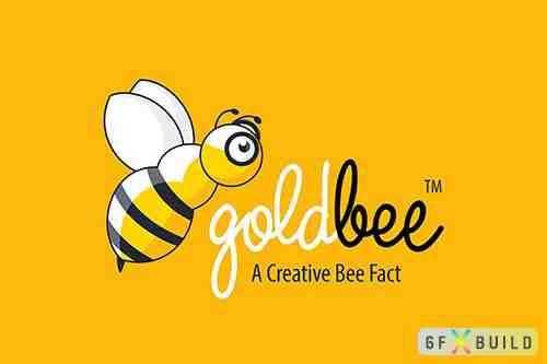 Golden Bee Fly Logo
