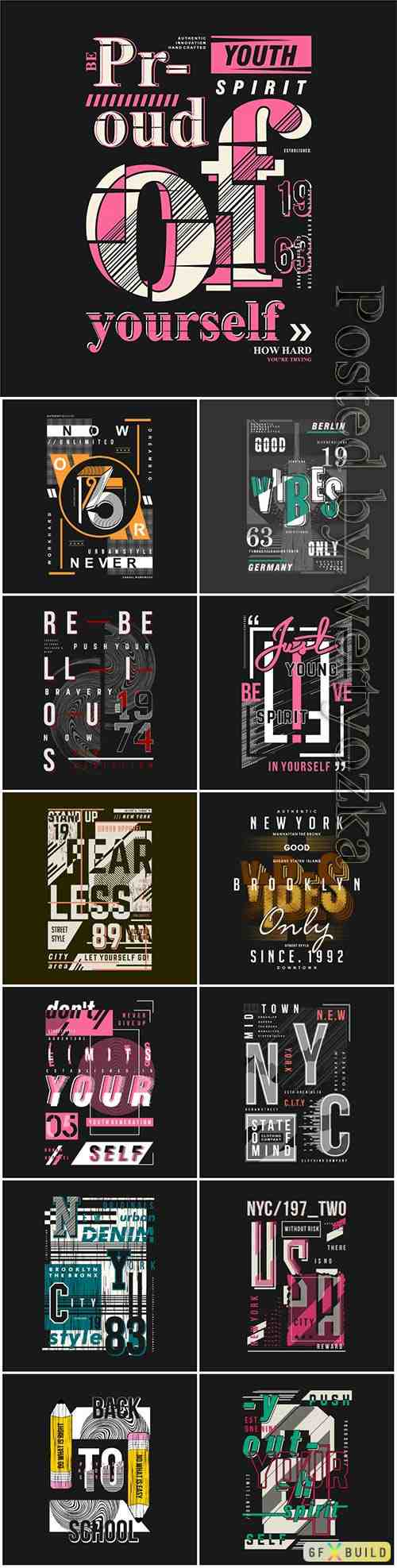 Graphic typography design ready to print vector illustration