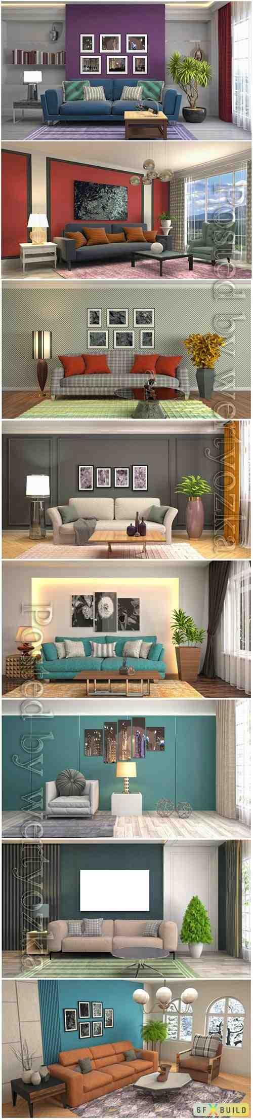 Illustration of the living room interior photo