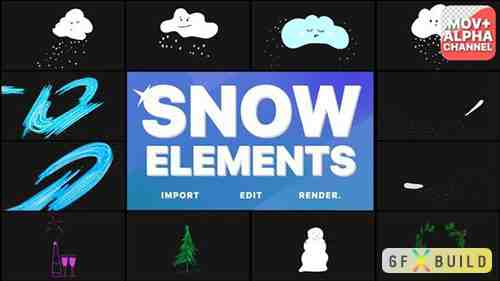 Cartoon Snow Clouds | Motion Graphics 29691837
