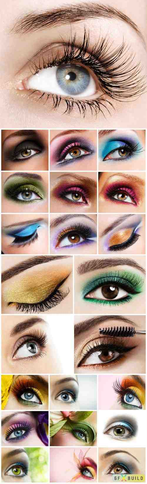 Eyes and eye makeup stock photo