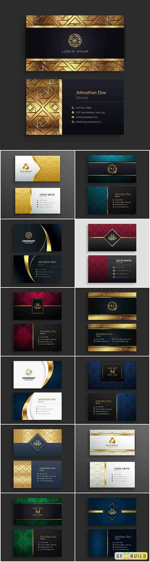 Vector elegant business card template
