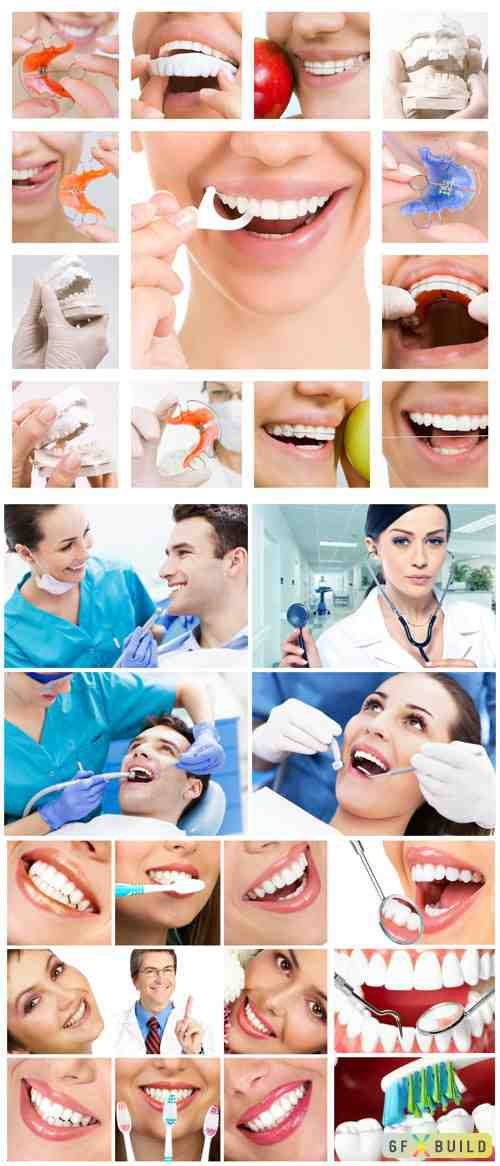 Smile, visiting dentist stock photo