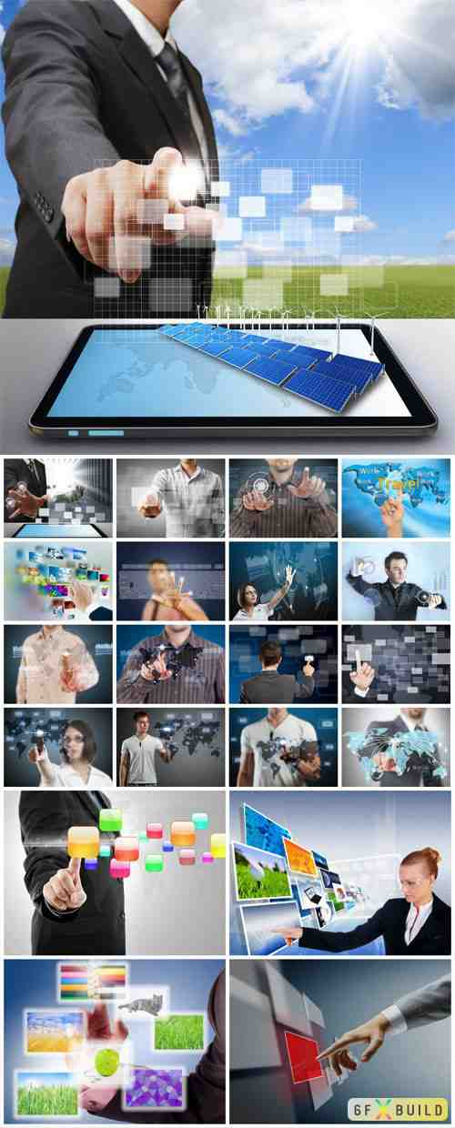 People and modern technology concept stock photo