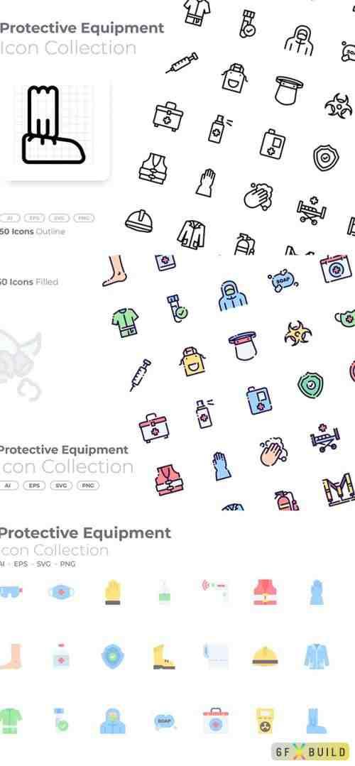 Protective Equipment Icons