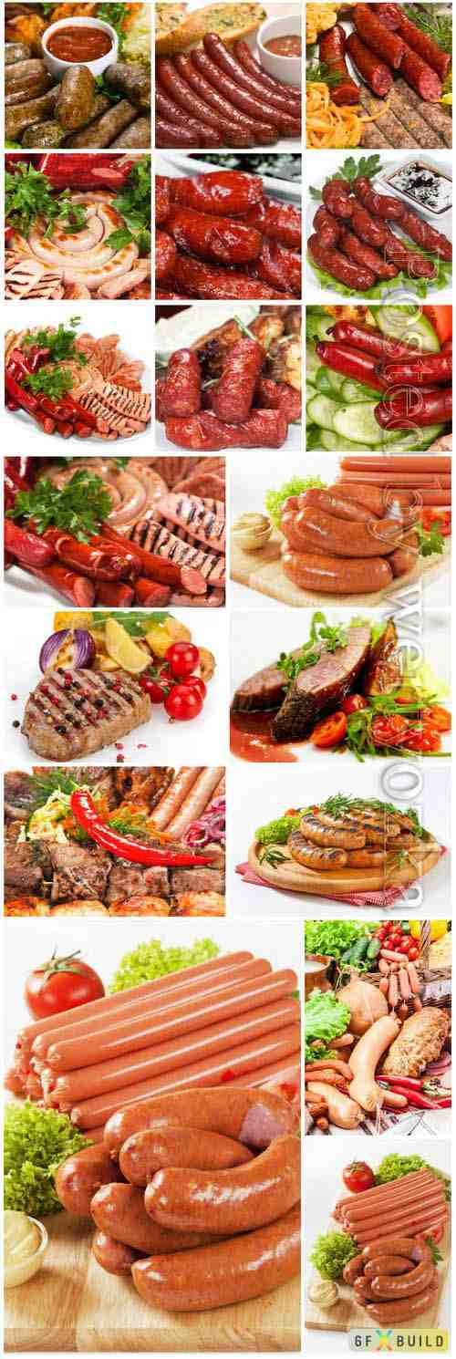 Sausage and meat stock photo