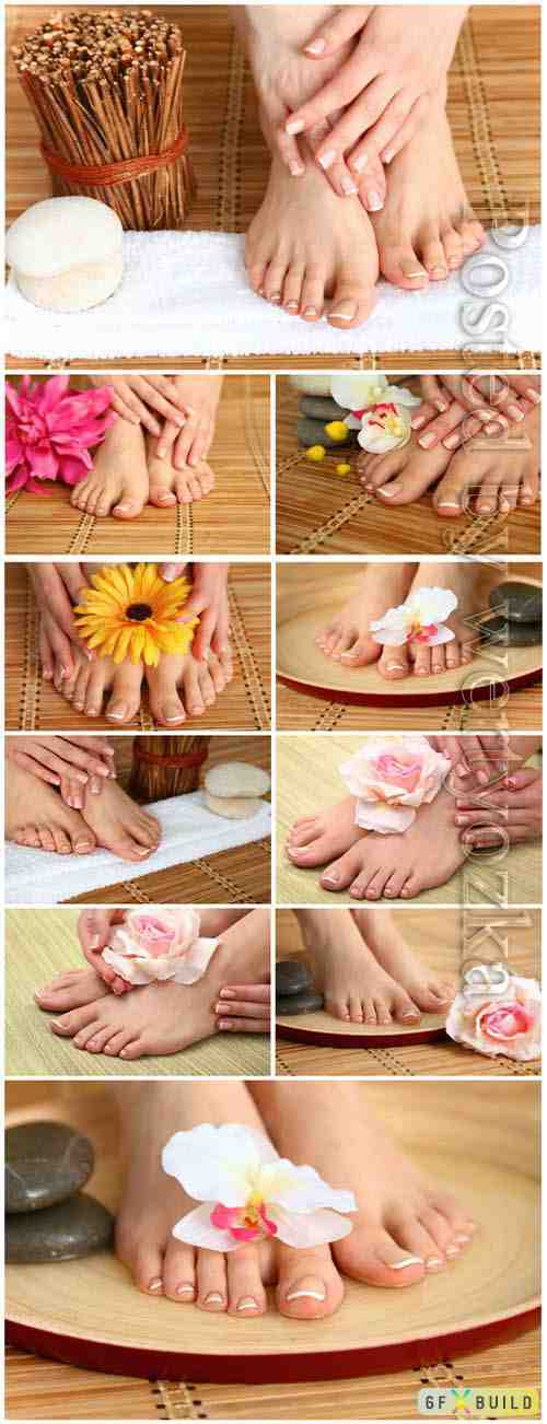 Female pedicure stock photo