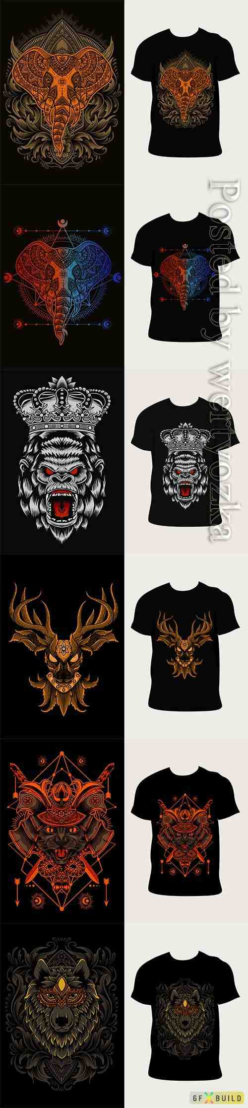 Vector illustration with t-shirt design