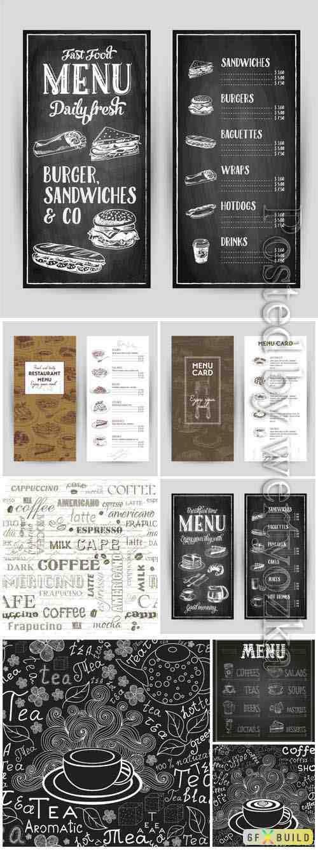 Restaurant menu in vintage style in vector