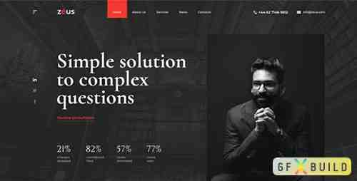Zeus - Lawyers and Law Firm PSD Template 27044254
