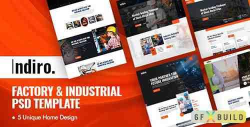 Indiro - Factory & Industrial PSD Template 30711009