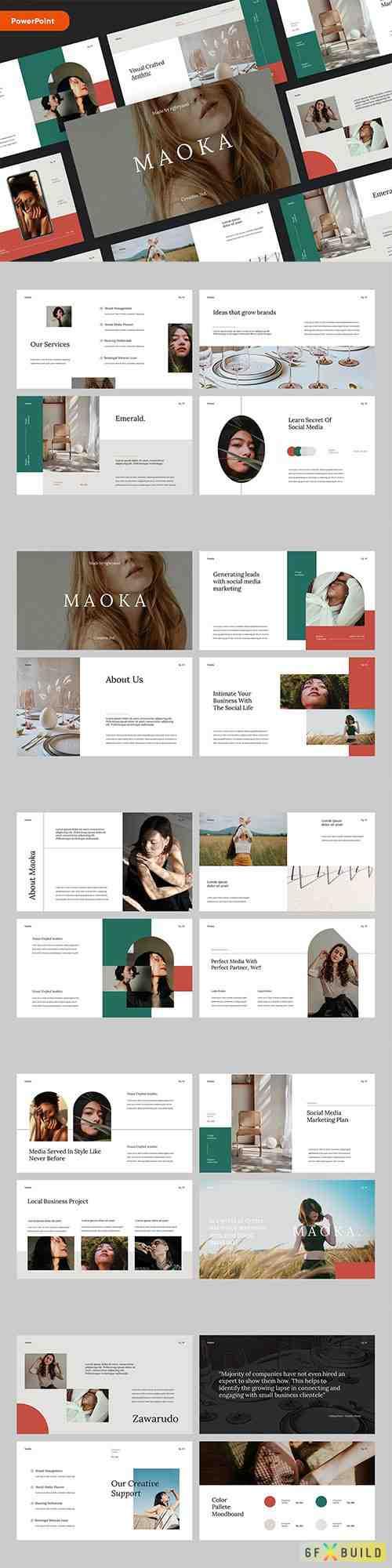 MAOKA - Creative & Elegant Studio PowerPoint, Keynote and Google Slides Template