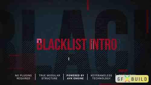 VideoHive - Blacklist Intro/Slideshow 31198788
