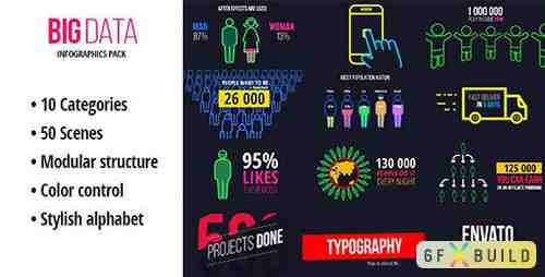 VideoHive - BigData - Ultimate Infographics Pack 13604124