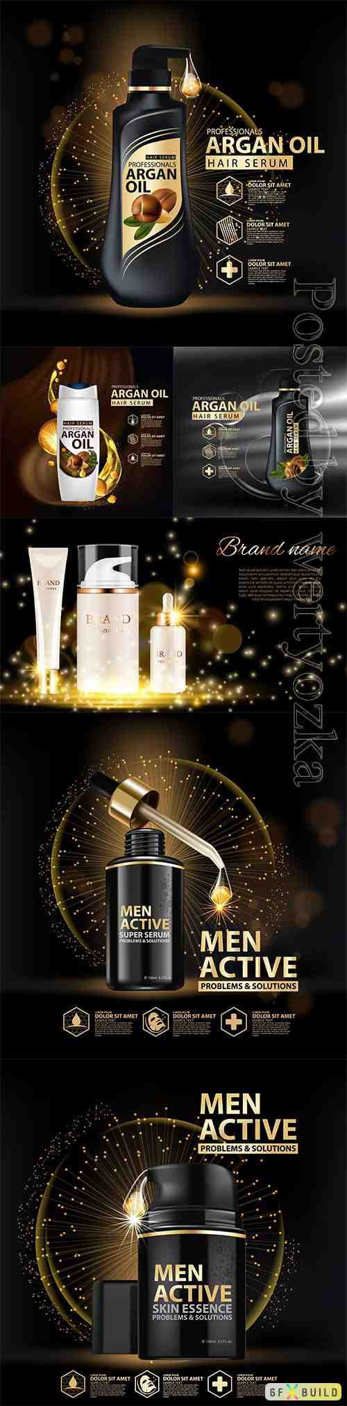 Cosmetic bottle package skin care, beauty cosmetic